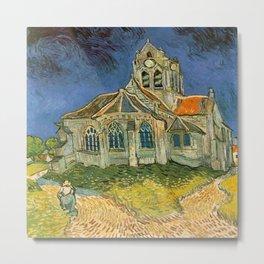 Vincent van Gogh's L'eglise d'Auvers sur Oise Metal Print