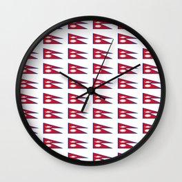 Flag of nepal - Nepali, नेपाल,nepalese,Everest,Kathmandu,Bhojpuri Wall Clock