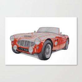 Austin Healey 3000 Canvas Print