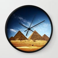 wwe Wall Clocks featuring Egypt by eARTh
