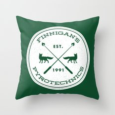 Finnigan's Pyrotechnics Throw Pillow