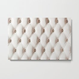 Luxury classic leather texture,old rose color Metal Print