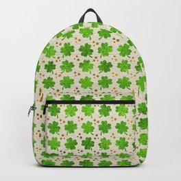Irish Shamrock Four-leaf clover pattern Backpack