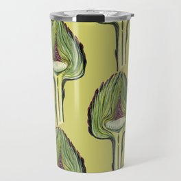 Botanical pattern from the new fall crop of artichokes Travel Mug
