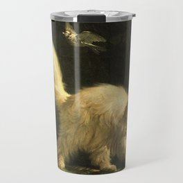 Cat in the art -Bachelier – Angora - detail Travel Mug