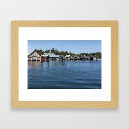 Boathouses 3 Framed Art Print