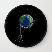 bubble Wall Clocks featuring Bubble by barmalisiRTB