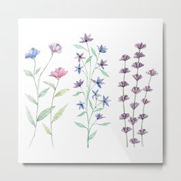 Miniflowers Metal Print