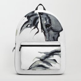 Gray Horse in ink Backpack