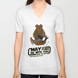 Frod0 the Sheltie: May the Furs Be With You (Wendy) Unisex V-Neck