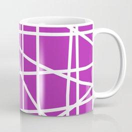 Doodle (White & Purple) Coffee Mug