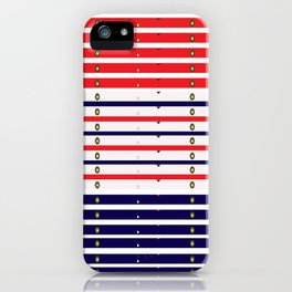 Red White & Blue in lights iPhone Case