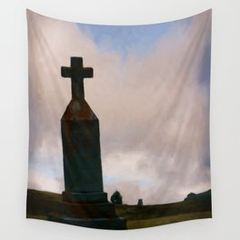 Cross on the Hill Wall Tapestry