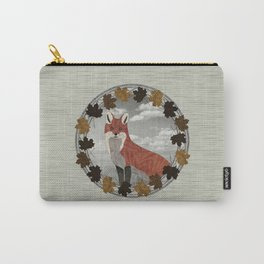 Red Fox Autumn Wreath Carry-All Pouch