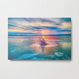 The Strange Ice Circle of Baikal Metal Print