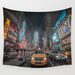 Times Square NYC Wall Tapestry