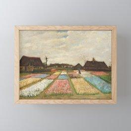 Flower Beds in Holland by Vincent van Gogh, 1883 Framed Mini Art Print