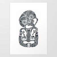 tiki Art Prints featuring Tiki  by AndreaGeddes