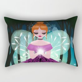 In The Ancient Forest The Woodland Fairy Walks Rectangular Pillow