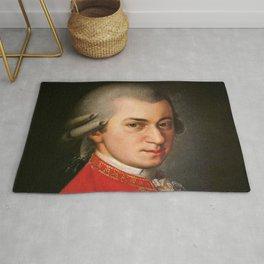 Barbara Krafft - portrait of Mozart Rug