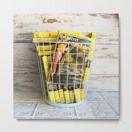 Nancy Drew in a Basket Metal Print