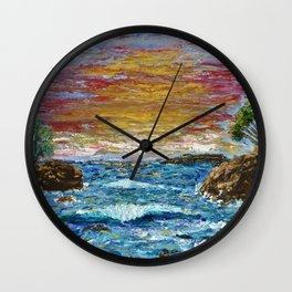 """Somewhere Sunset"" Wall Clock"