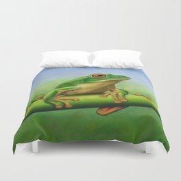 Moltrecht's Green Treefrog Duvet Cover
