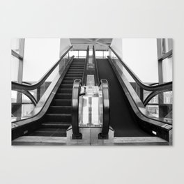 Escalator Becomes Stairs  Canvas Print
