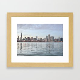 Chicago Sunset Framed Art Print