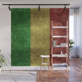The National flag of the Republic of Mali Wall Mural