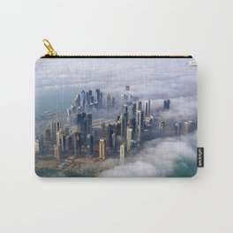 Doha Quatar Cityscape From Above The Clouds Ultra HD Carry-All Pouch