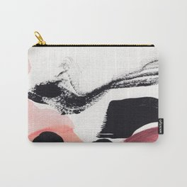 Blush Abstract Art Carry-All Pouch