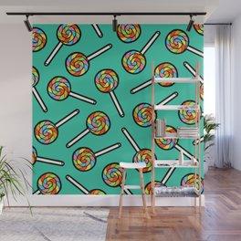 Rainbow Lollipop Pattern Wall Mural