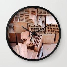 Broken Bricks Composition Wall Clock
