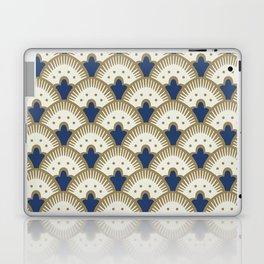 Fan Pattern Blue/Gold Laptop & iPad Skin