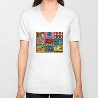 keith haring V-neck T-shirts featuring Keith Haring & star W.2 by le.duc