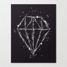 Drawing of a diamond Canvas Print