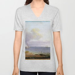 Johan Christian Dahl View over Øresund Unisex V-Neck