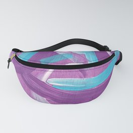 Ultra Violet / Teal Abstract Fanny Pack