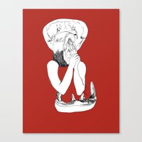 eat Canvas Prints featuring EAT by Creating is Breathing