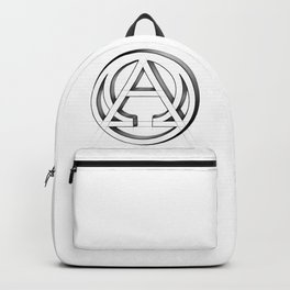 Alpha and Omega Symbol. From beginning to end Backpack