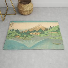 Reflection in Lake at Misaka in Kai Province, Thirty-six Views of Mount Fuji by Katsushika Hokusai Rug