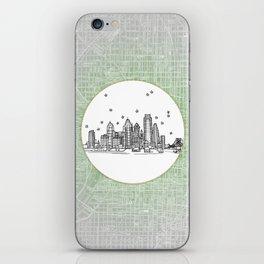 Philadelphia, Pennsylvania City Skyline Illustration Drawing iPhone Skin