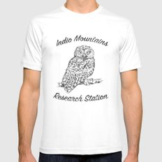 Indio Mountains Research Station - Elf Owl White Mens Fitted Tee MEDIUM