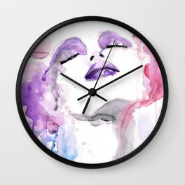 Rosa (pink) four Wall Clock