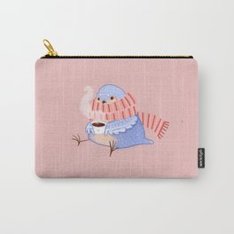 Cozy Canaries- Coffee Canary  Carry-All Pouch