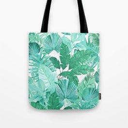 Tropical Leaf Green Tote Bag