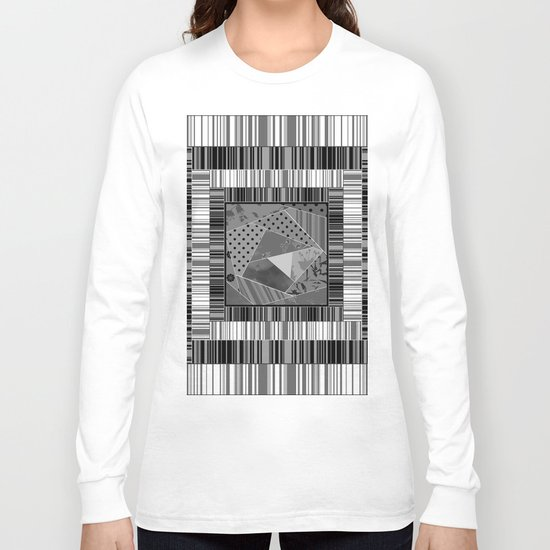 Abstract pattern . Patchwork striped . Long Sleeve T-shirt