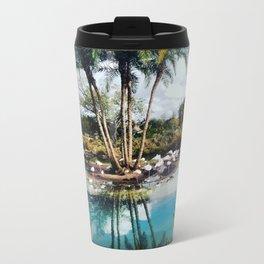 Flamingo Lagoon Metal Travel Mug