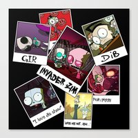 invader zim Canvas Prints featuring Invader Zim Photo Collage by kltj11